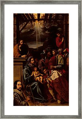 Adoration Of The Magi Framed Print by Unknown