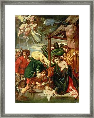 Adoration Of The Shepherds Framed Print by Pedro Orrente