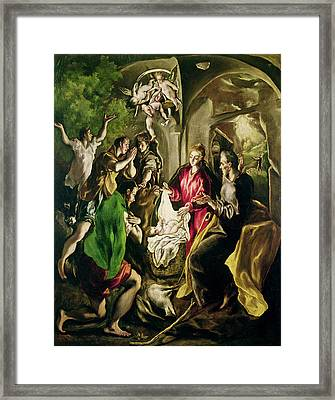 Adoration Of The Shepherds Framed Print by Celestial Images