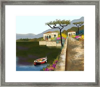 Adriatic Splendor Framed Print by Larry Cirigliano