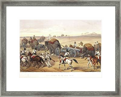 Advance Of The Siege Train Framed Print by British Library