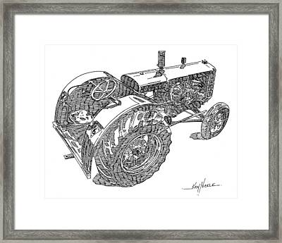 Advance Rumely Framed Print by Ken Nickle