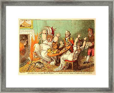 Advantages Of Wearing Muslin Dresses, Gillray, James Framed Print by Litz Collection