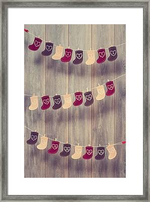 Advent Calendar Framed Print by Amanda Elwell