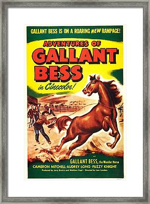 Adventures Of Gallant Bess, Us Poster Framed Print by Everett