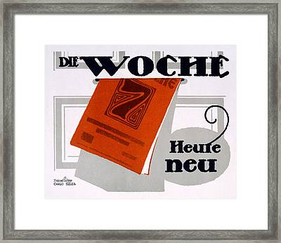Advert For Die Woche Framed Print by Carlo Egler