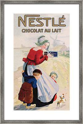 Advertisement For Chocolat Au Lait Framed Print by Anonymous