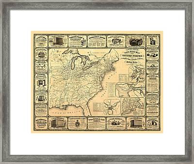 Advertising Map Framed Print by Gary Grayson