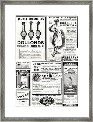 Advertising Spread From The Sphere Framed Print by English School