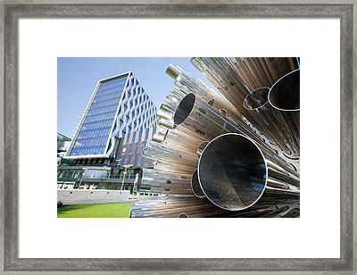 Aeolus Acoustic Wind Pavilion Sculpture Framed Print by Ashley Cooper