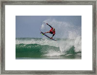 Framed Print featuring the photograph Aerial 1 by Thierry Bouriat