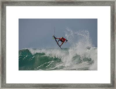 Framed Print featuring the photograph Aerial 2 by Thierry Bouriat