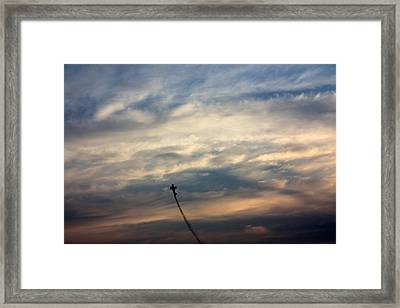 Aerial Acrobat Framed Print by Gerry Bates