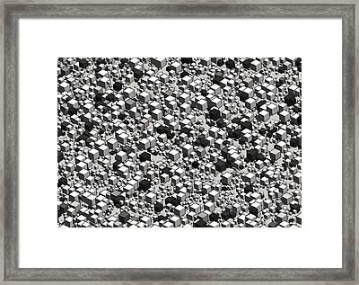 Aerial City Framed Print by Daniel Hagerman