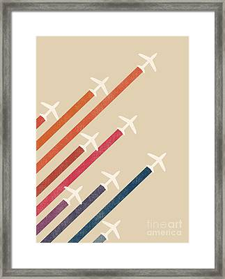Rainbow Jet Framed Print by Nava Seas
