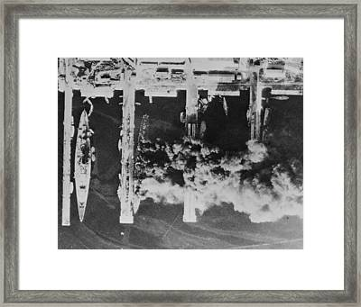 Aerial Photos Of The Scuttled French Framed Print by Everett