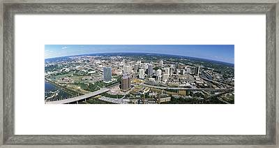 Aerial Richmond Va Framed Print by Panoramic Images