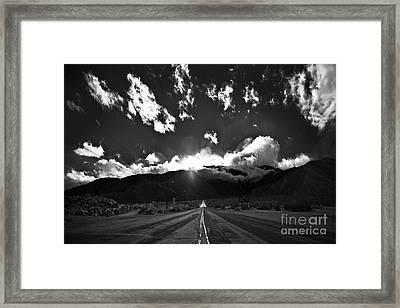 Aerial Tram Road Palm Springs Framed Print by Art K