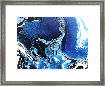 Aerial Veiw Blue Framed Print by Mitchell Embry