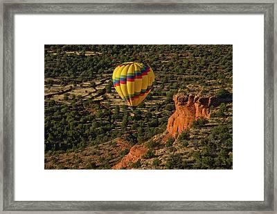 Aerial View, Doe Mesa, Red Rock Framed Print by Michel Hersen