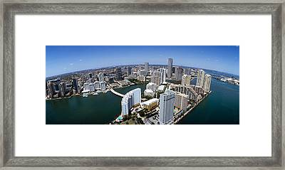 Aerial View Of A City, Miami Framed Print by Panoramic Images
