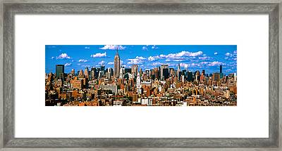 Aerial View Of A City, Midtown Framed Print by Panoramic Images