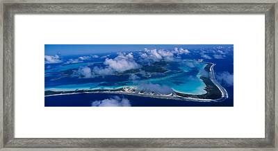 Aerial View Of An Island, Bora Bora Framed Print by Panoramic Images