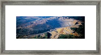 Aerial View Of Copper Mines, Utah, Usa Framed Print by Panoramic Images