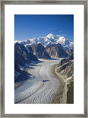 Aerial View Of Great Gorge Wruth Framed Print by Jeff Schultz