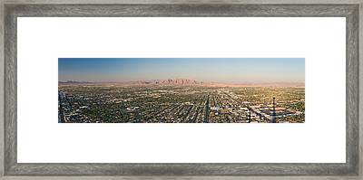 Aerial View Of Las Vegas Framed Print by Panoramic Images
