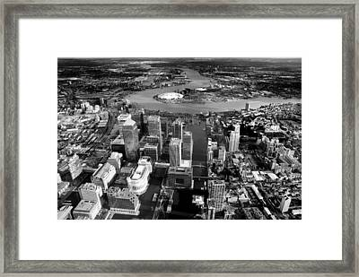 Aerial View Of London 5 Framed Print by Mark Rogan