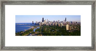 Aerial View Of Skyline, Chicago Framed Print by Panoramic Images