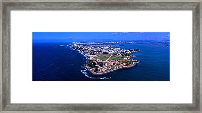 Aerial View Of The Morro Castle, San Framed Print by Panoramic Images