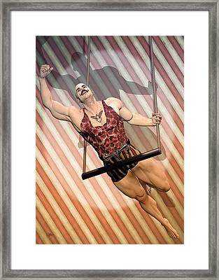 Aerialist Circus Framed Print by Quim Abella