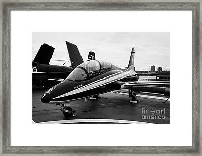 Aermacchi Mb 339 Mb339 Of The Italian Airforce Frecce Tricolore  Framed Print by Joe Fox