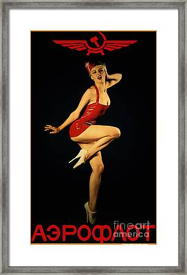 Aeroflot Framed Print by Cinema Photography