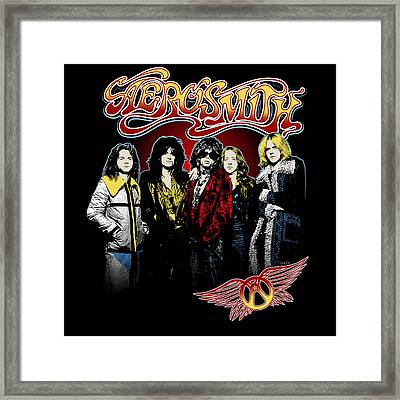 Aerosmith - 1970s Bad Boys Framed Print by Epic Rights