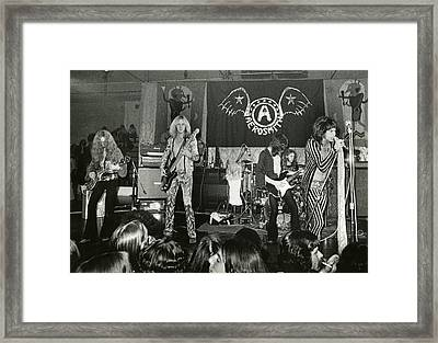 Aerosmith - Aerosmith Tour 1973 Framed Print by Epic Rights