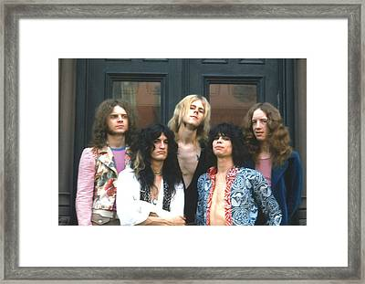Aerosmith - Boston 1973 Framed Print by Epic Rights