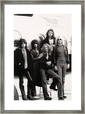 Aerosmith - Eurofest Jet 1977 Framed Print by Epic Rights