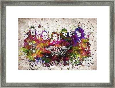 Aerosmith In Color Framed Print by Aged Pixel