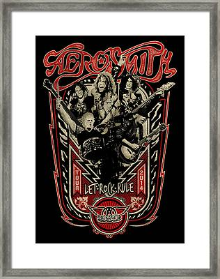 Aerosmith - Let Rock Rule World Tour Framed Print by Epic Rights