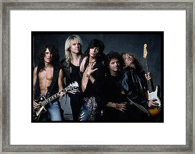 Aerosmith - Let The Music Do The Talking 1980s Framed Print by Epic Rights