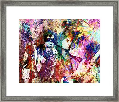 Aerosmith Original Painting Framed Print by Ryan Rock Artist