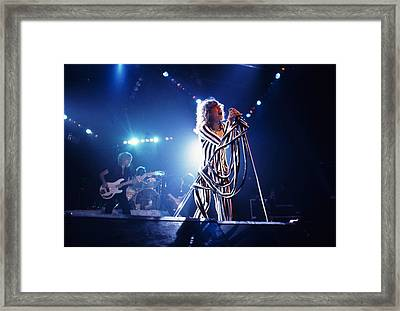 Aerosmith - Pinstripes And Love Bites 1970s Framed Print by Epic Rights