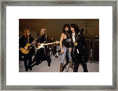 Aerosmith - Rooftop Blues 1990s Framed Print by Epic Rights