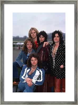 Aerosmith - Terre Haute 1977 Framed Print by Epic Rights