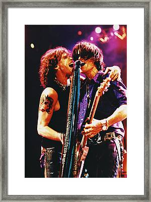Aerosmith - Toxic Twins Framed Print by Epic Rights