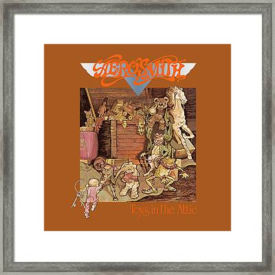 Aerosmith - Toys In The Attic 1975 Framed Print by Epic Rights