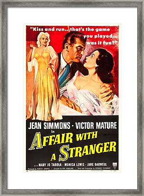 Affair With A Stranger, Us Poster Framed Print by Everett
